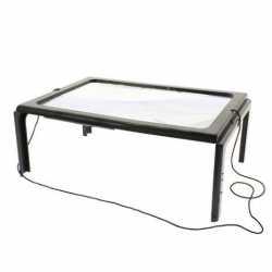 Palielināmie stikli - Galdiņš ar palielināmo stiklu ar 4 LED diodēm 275x195mm 181650 - ātri pasūtīt no ražotāja