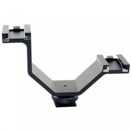 Mikrofonu aksesuāri - Micnova dubultais pēdas stiprinājums 299420 - ātri pasūtīt no ražotāja