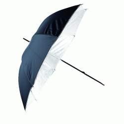 Foto lietussargi - Linkstar PUK-84WB lietussargs atstarojošs melns/balts 84cm - ātri pasūtīt no ražotāja