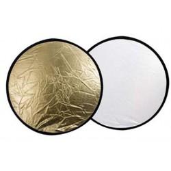 Saliekamie atstarotāji - Falcon Eyes Reflector CFR-42GS Gold/Silver 107 cm - perc veikalā un ar piegādi