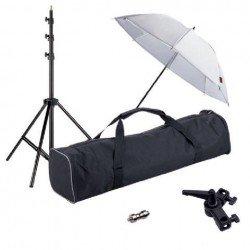 Umbrellas - Linkstar Strobist Set with Umbrella UK-84T - quick order from manufacturer