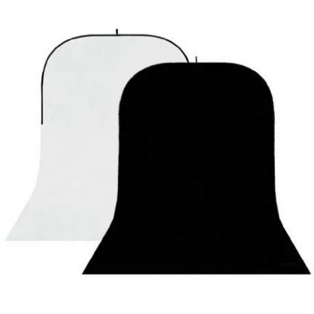 Backgrounds - StudioKing Background Board BBT-01-20 White/Black 150x400 cm - quick order from manufacturer