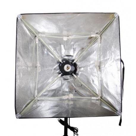 Флуоресцентное освещение - Falcon Eyes daylight lamp holder + софтбокс 50x50см (LH-ESB5050) - купить сегодня в магазине и с доставкой