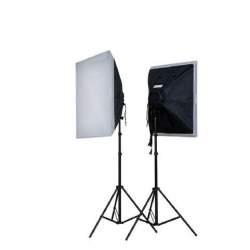 Флуоресцентное освещение - Falcon Eyes LH-ESB5050K2 2x40W 2x 50x50cm Daylight Set - купить сегодня в магазине и с доставкой