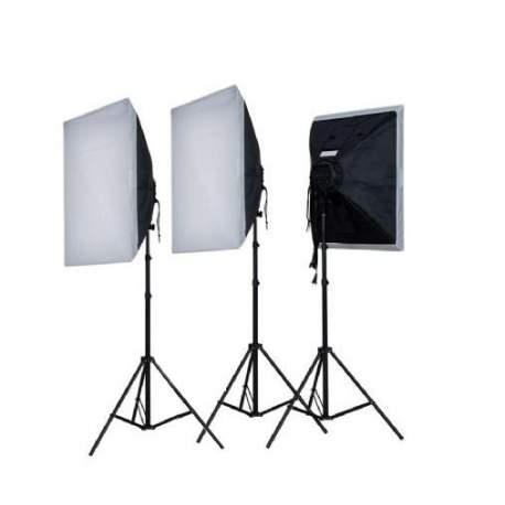 Fluorescējošās - Falcon Eyes Daylight Set LH-ESB5050K3 3x55W - perc šodien veikalā un ar piegādi