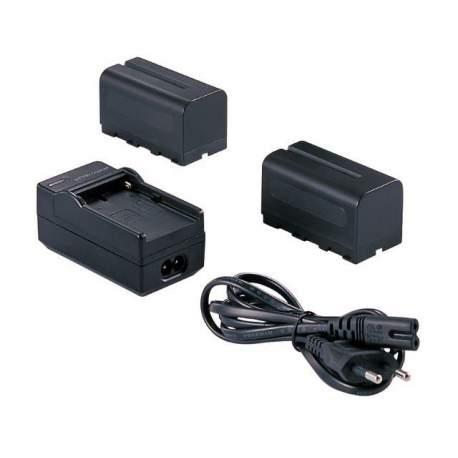 Батарейки и аккумуляторы - Falcon Eyes 2 x Battery NP-F750 + Battery Charger SP-CHG for LED Lamp - купить сегодня в магазине и с доставкой