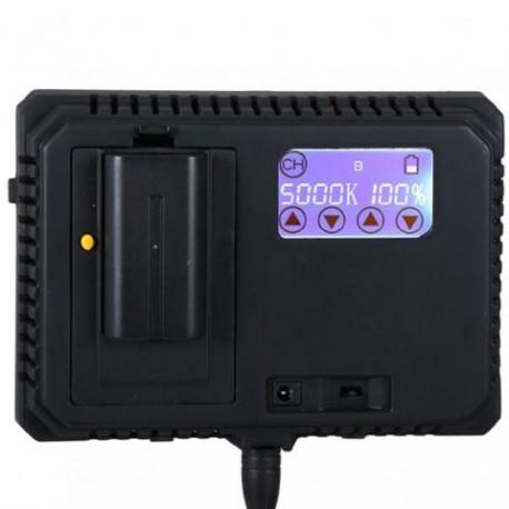 LED накамерный - Falcon Eyes Bi-Color LED Lamp Set Dimmable DV-300F2-K1 incl. Battery - быстрый заказ от производителя