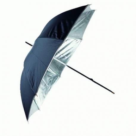 Зонты - Linkstar Umbrella PUR-84SB Silver/Black 100 cm - купить сегодня в магазине и с доставкой