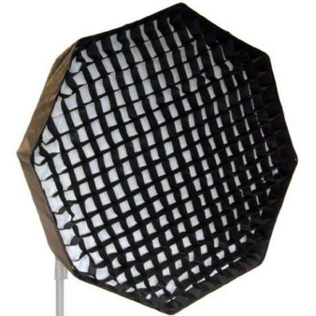 Софтбоксы - Falcon Eyes Foldable Deep Octabox + Honeycomb Grid FEOB-10EX-HC 100 cm - купить сегодня в магазине и с доставкой