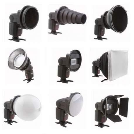 Aksesuāri zibspuldzēm - Falcon Eyes Universal Speedlite Flash Gun Strobist Set SGA-K9 - ātri pasūtīt no ražotāja