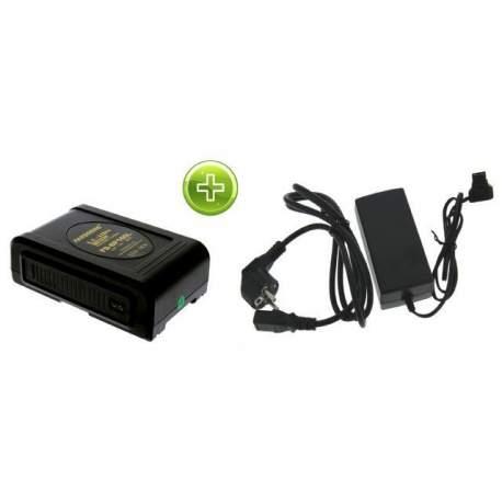 Зарядные устройства - Falcon Eyes V-Mount Battery with Battery Charger - быстрый заказ от производителя
