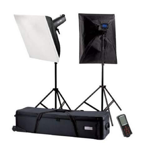 Studijas zibspuldžu komplekti - Falcon Eyes Studio Flash Set TFK-2400L with LCD Display - ātri pasūtīt no ražotāja