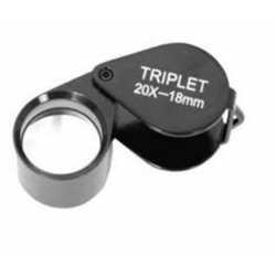 Palielināmie stikli - Benel Optics Jewelry Magnifier Triplet 20x 18mm - perc šodien veikalā un ar piegādi