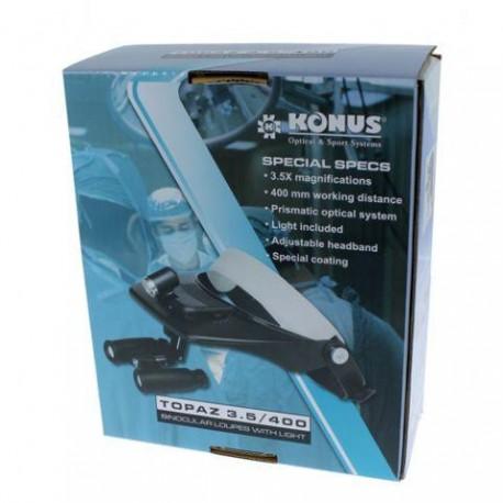 Увеличительные стекла/лупы - Konus Head MagnifierTopaz Prismatic 3,5x With Illumination - быстрый заказ от производителя