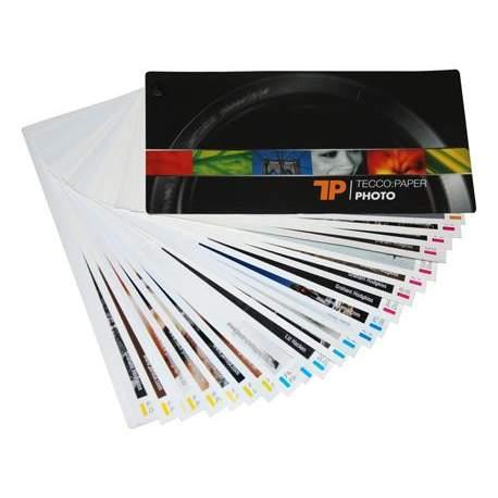 Papīrs foto izdrukām - Tecco Inkjet Swatchbook Fan 11,5 x 21 cm - быстрый заказ от производителя