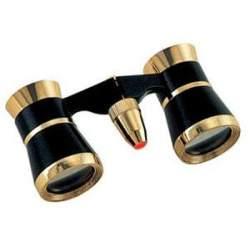 Binokļi - Konus Opera Glass Opera-41 3x25 + Light Black/Gold - ātri pasūtīt no ražotāja