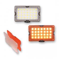 LED uz kameras - Menik S-6 Foto / Video-Lighting LED 12W + accum - ātri pasūtīt no ražotāja