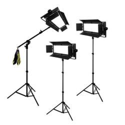 Video LED - Bresser LED Foto-Video SET 3 x LG-1200 72W/11.800LUX - ātri pasūtīt no ražotāja