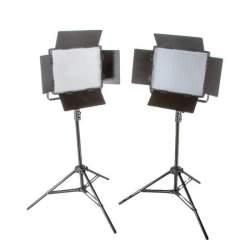 Video LED - Bresser LED Foto-Video SET 2xLS-1200 72W/11.800LUX - ātri pasūtīt no ražotāja