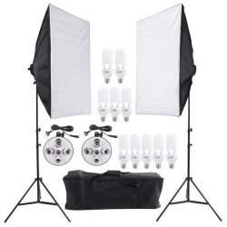 Ekonomiskās - Bresser BR-2246B dienas gaismu komplekts 10x45W ar 2 60x90 softbox 1600W - perc veikalā un ar piegādi