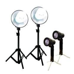 Video dienas gaismas - BRESSER BR-2107 gaismu komplekts 2x45W dienas lampas, 2x50W halogēnlampas - perc veikalā un ar piegādi