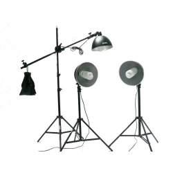 Флуоресцентный - BRESSER BR-2242B 3x125W 3x27cm w boom Daylight set 1350W - купить сегодня в магазине и с доставкой
