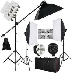 Fluorescējošās - BRESSER BR-2246 Daylight set 2400W 15x45w 3x60*90cm 2x200cm +boom and bag - perc veikalā un ar piegādi
