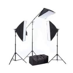 Флуоресцентное освещение - BRESSER BR-2240 3x 125W 3x 50x70cm Daylight set w boom 1350W - купить сегодня в магазине и с доставкой