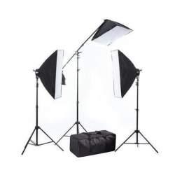 Fluorescējošās - BRESSER BR-2240 3x125W+boom statīvs 3x 50x70cm dienas gaismu komplekts 1350W - perc šodien veikalā un ar piegādi