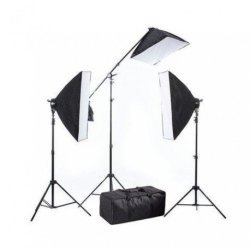 Fluorescent - BRESSER BR-2240 3x 125W 3x 50x70cm Daylight set w boom 1350W - buy today in store and with delivery
