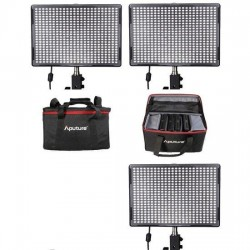 Video LED - Aputure LED Set: 3x AL-528 Wide Wide Spot CRI95 + Bag - perc šodien veikalā un ar piegādi