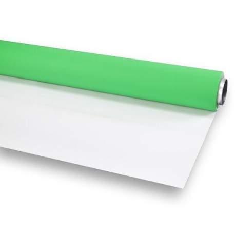 Foto foni - Folux Vinyl green/white 2.72x6 matt Background Rolle - ātri pasūtīt no ražotāja