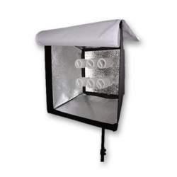 Fluorescējošās - Menik MM-16 lampu panelis ar softboksu un šūnām 6 gab E27 - ātri pasūtīt no ražotāja