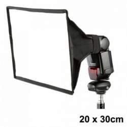 Aksesuāri zibspuldzēm - Caler e-20x30 softbokss kameras zibspuldzei - perc veikalā un ar piegādi