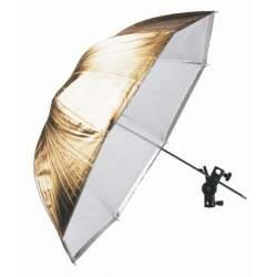 Foto lietussargi - Falcon Eyes Umbrella URK-48TGS Transparant/Gold/Silver 100 cm - ātri pasūtīt no ražotāja