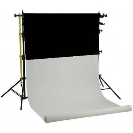 Background holders - Falcon Eyes Background System SPK-2 with 2 Rolls Black/White 1.35x11 m - quick order from manufacturer
