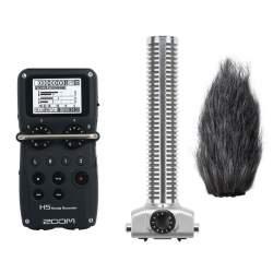 Видеосвет и аксессуары - Zoom H5 Handy Recorder skaņas ierakstītājs ar virzīto mikrofonu