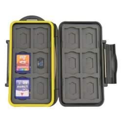 Objektīvu vāciņi - JJC futlāris 12 SD kartēm un 12 Micro SD kartēm MC-SDMSD24 - perc veikalā un ar piegādi