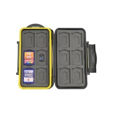 Atmiņas kartes - JJC futlāris 12 SD kartēm un 12 Micro SD kartēm MC-SDMSD24 - perc šodien veikalā un ar piegādi