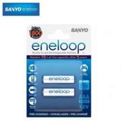 Akumulatori zibspuldzēm - Eneloop lādējamas baterijas AAA (2.gab) 750 mAh - perc veikalā un ar piegādi