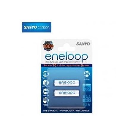 Pirkstiņu baterijas zibspuldzēm - Eneloop lādējamas baterijas AAA (2.gab) 750 mAh - perc šodien veikalā un ar piegādi
