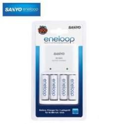 Батарейки и аккумуляторы - Eneloop lādētājs ar 4 AA baterijām 1900 mAh MQN09 - купить сегодня в магазине и с доставкой