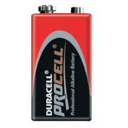 AA batteries for flash - DURACELL Procell baterija ALKALINE 6LR61 9V - quick order from manufacturer