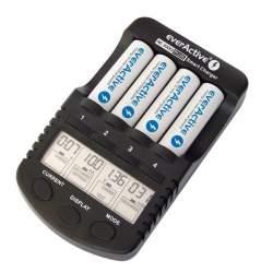 Akumulatori zibspuldzēm - EverActive NC1000 4 režimi AA un AAA 4 gab. lādētājs ar 12v auto štekeri - perc veikalā un ar piegādi