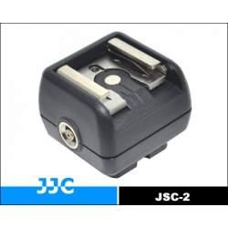 Aksesuāri zibspuldzēm - JJC JSC-2 karstās pēdas adapteris ar PC female kontaktu - perc veikalā un ar piegādi