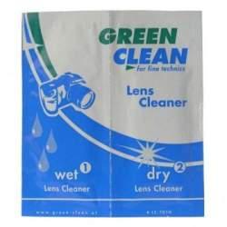 Foto kameras tīrīšana - Green Clean LC-7010 tīrīšanas salvetes optikai - perc veikalā un ar piegādi