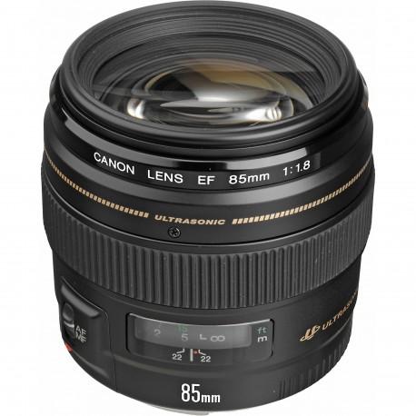 Объективы - Canon EF 85mm f/1.8 USM - купить сегодня в магазине и с доставкой