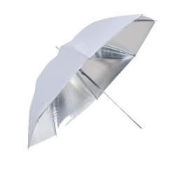 Foto lietussargi - Linkstar PUK-84SW lietussargs atstarojošs sudraba/balts 84cm 566017 - perc veikalā un ar piegādi