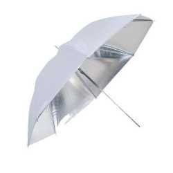 Umbrellas - Linkstar Umbrella PUK-84SW Silver/White 100 cm (reversible) - quick order from manufacturer