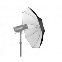 Foto lietussargi - Jinbei 100cm atstarojošs lietussargs balts/melns - perc veikalā un ar piegādi